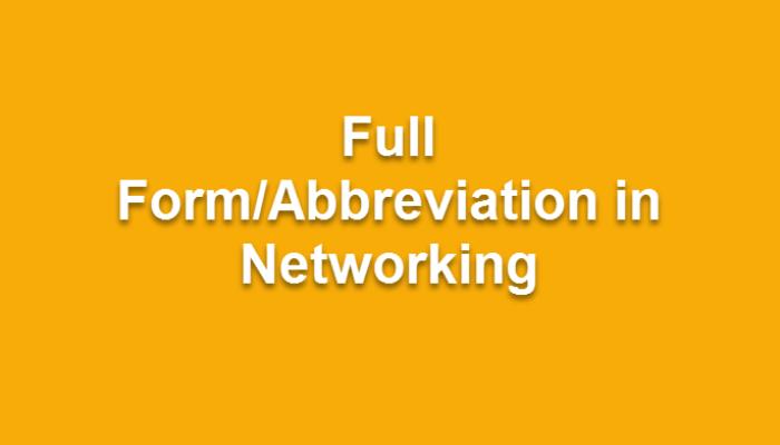 390+ Network Abbreviation   Download Network Abbreviation in PDF