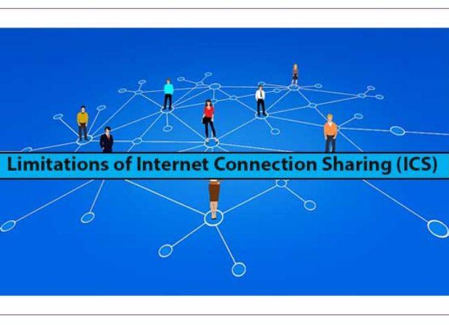 Limitations of Internet Connection Sharing (ICS)