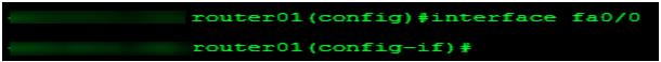 Cisco Router Interface Configuration Mode