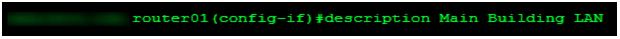 Cisco Description on Router Interface
