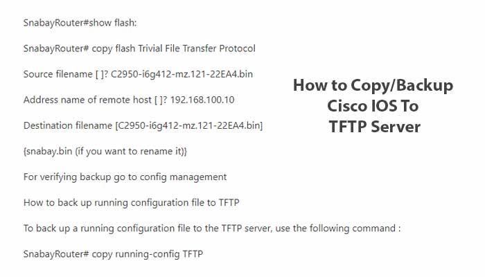 How To Copy Cisco Ios To TFTP Serve